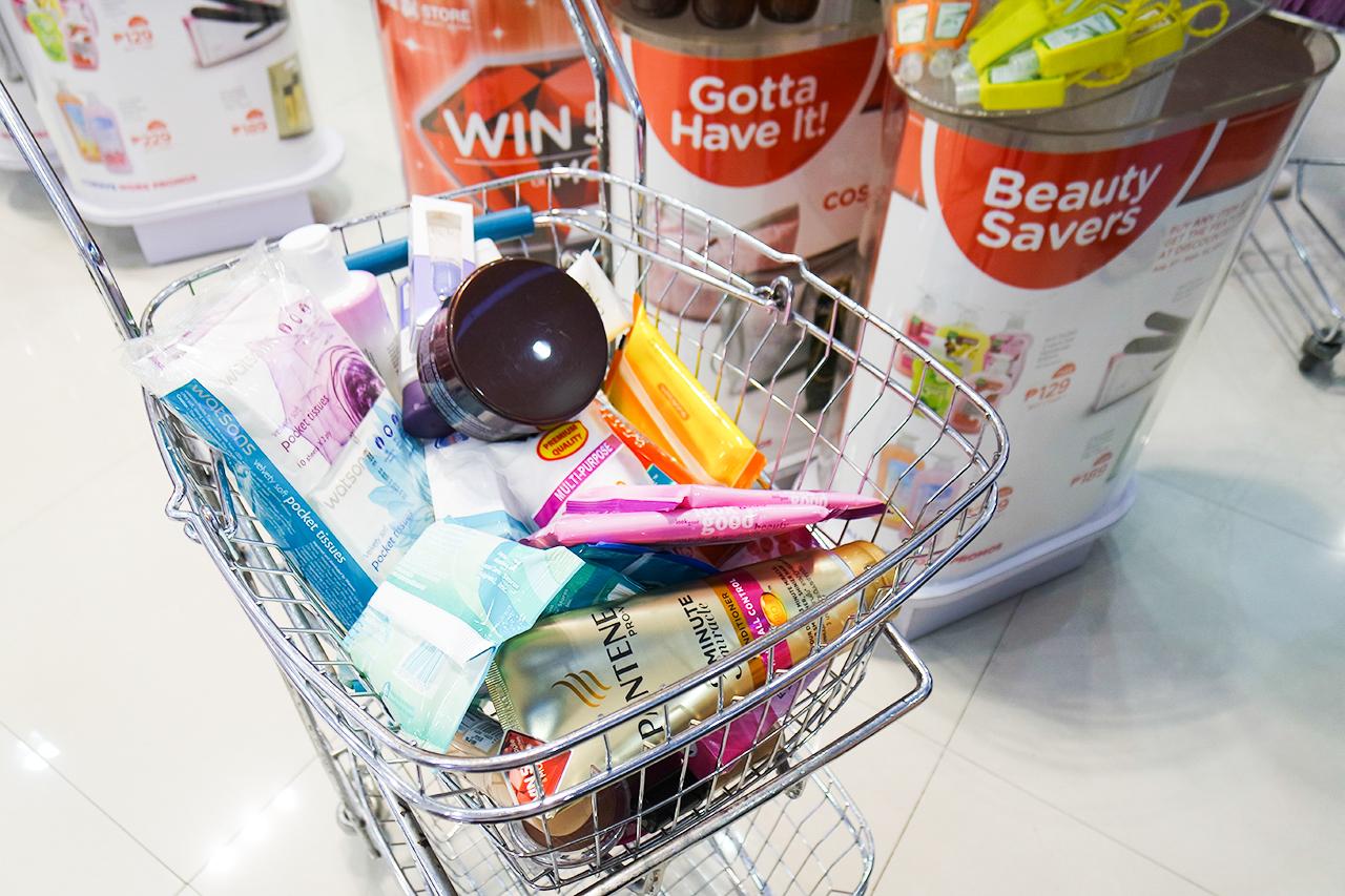 Watsons Triple Bonus Promo shopping cart