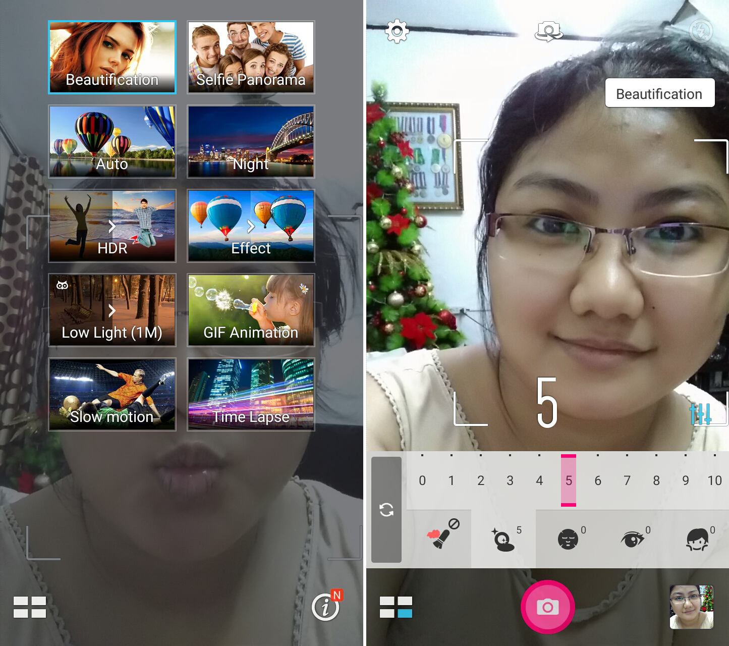 Real-time Beautification Mode