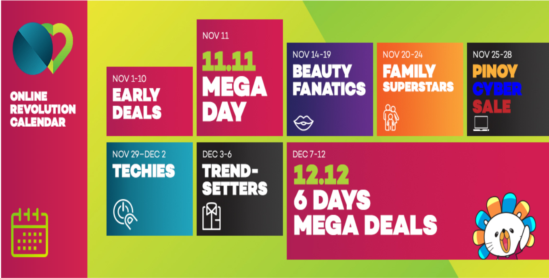 LAZADA Online Revolution Sale Calendar